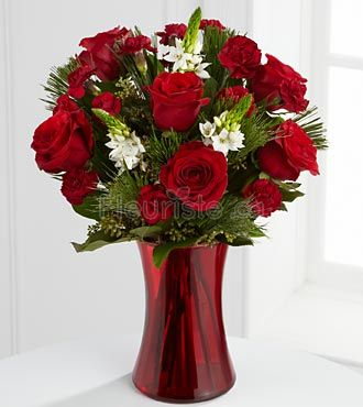 ALL RED HOLIDAY BOUQUET