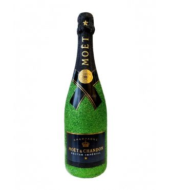 BOUTEILLE CHAMPAGNE PERSONNALISEE EMERAUDE