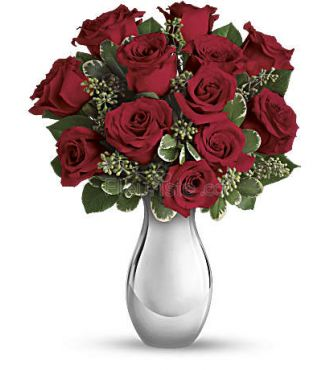TRUE ROMANCE RED ROSE BOUQUET